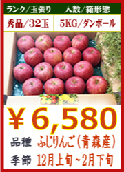 美味しいりんご ふじ(青森産)5KG