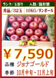 美味しいりんご ジョナゴールド 10KG
