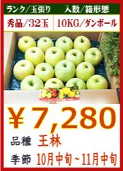 美味しいりんご 王林 10KG